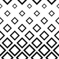 Abstract geometric seamless pattern. Simple black and white background. Vector illustration. Classic design.