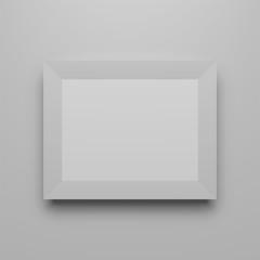 Horizontal Photo Frame realistic Template