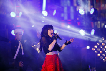 Carly Rae Jepsen performs during New Year's Eve celebrations in New York