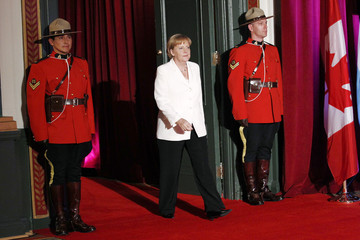 Germany's Chancellor Angela Merkel arrives at the G20 Summit in Toronto