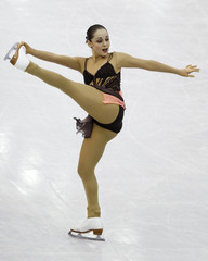 Saygi of Turkey performs during the women's free skating preliminary round at the ISU World Figure Skating Championships in Nice
