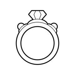 sketch silhouette image diamond engagement ring vector illustration