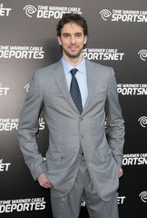 NBA player Gasol arrives at Time Warner Cable Sports launch event for Time Warner Cable SportsNet and Time Warner Cable Deportes in El Segundo
