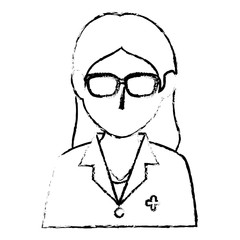 woman nurse avatar character vector illustration design