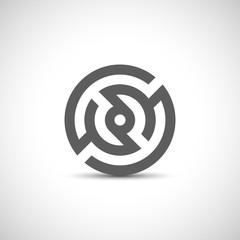 Abstract company symbol. Logo design template.
