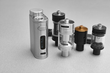 E - cigarette for vaping , technical devices