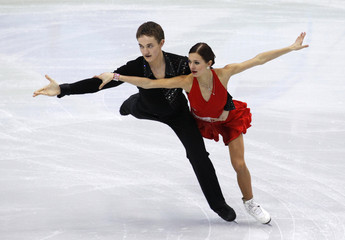 Estonia's Shtork and Rand perform during the ice dance compulsory dance figure skating competition at the Vancouver 2010 Winter Olympics