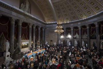 U.S. President Barack Obama and first lady Michelle Obama attend the Inaugural Luncheon in Washington