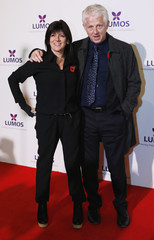 Screenwriter Richard Curtis and wife Emma Freud at charity event at Warner Bros in London