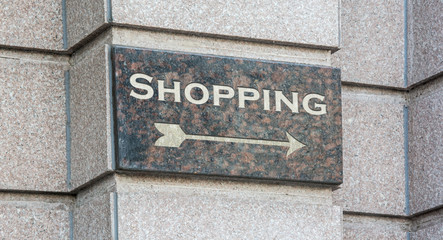 Schild 204 - Shopping