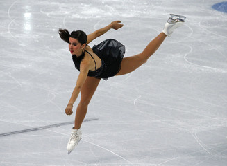 Valentina Marchei during women's free skating program at 2014 Sochi Winter Olympics