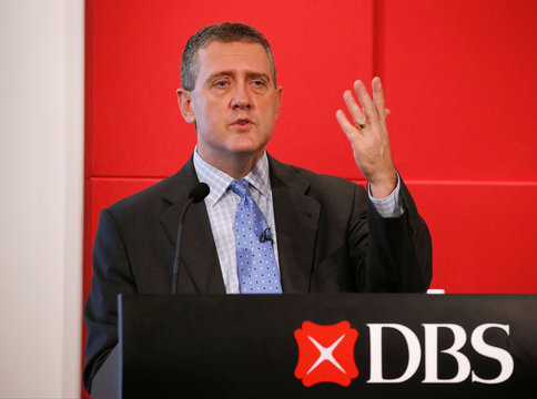 """St. Louis Fed President James Bullard speaks at a public lecture on """"Slow Normalization or No Normalization"""" in Singapore"""
