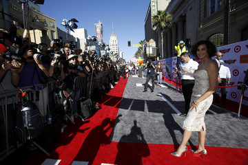 "Hatcher, who voices the character of ""Dottie,"" poses at the world premiere of ""Planes"" at El Capitan theatre in Hollywood"