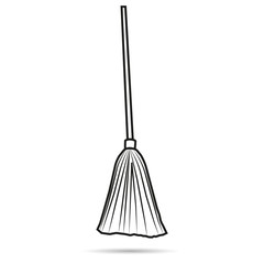 Vector image broom