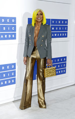 Dancer Cassie arrives at the 2016 MTV Video Music Awards in New York