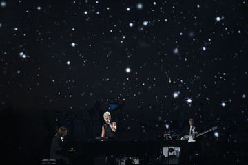 "Singer Pink performs ""So Far Away"" during the 2014 MusiCares Person of the Year tribute honoring Carole King in Los Angeles"