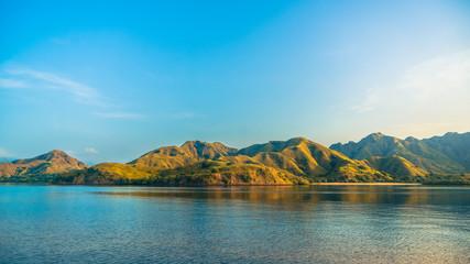 Komodo Islands when the sun is rising