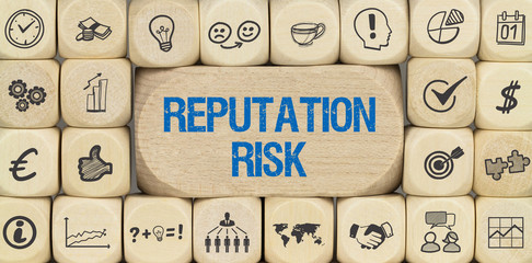 Reputation Risk / Würfel mit Symbole