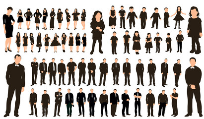 Collection silhouette people  illustration