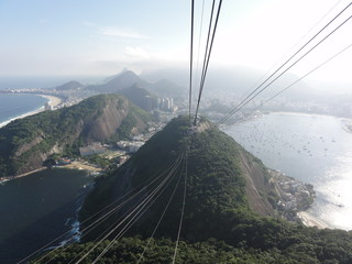 Sugarloaf mountain and view, Rio , Brazil
