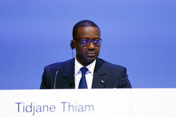 CEO Tidjane Thiam of Swiss bank Credit Suisse attends the bank's extraordinary shareholder meeting in Zurich