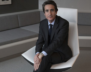 Patrice Caine, newly appointed Chairman and Chief Executive of Thales, poses prior to the presentation of the company's 2014 results at their headquarters in La Defense business district  near Paris