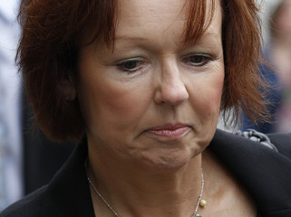 Carol Gillies, the sister of Arlene Fraser, arrives at the the High Court in Edinburgh, Scotland