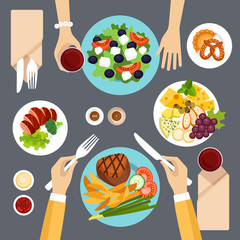 Dinner vector illustration