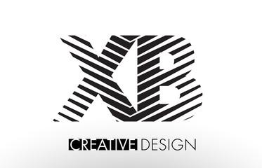 XB X B Lines Letter Design with Creative Elegant Zebra