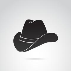 Cowboy hat vector icon.