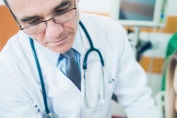 Caucasian Medical Doctor at Work