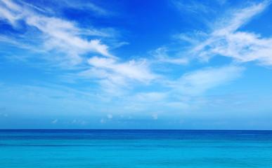 Caribbean sea and blue sky. Wall mural