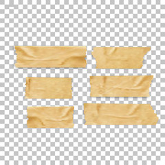 Isolated sticky tape pieces