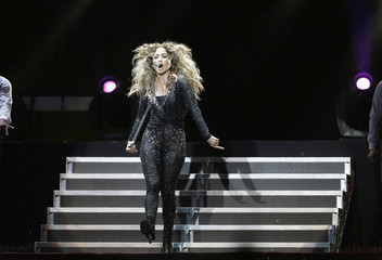"""Lopez performs during her """"Dance Again World Tour"""" concert in Kuala Lumpur"""