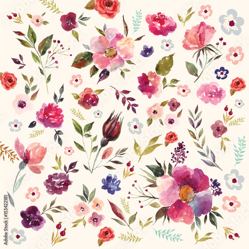 watercolor floral pattern stock image and royalty free vector files