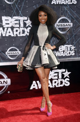 Brandy Norwood arrives at the 2015 BET Awards in Los Angeles