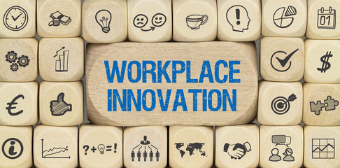 Workplace Innovation / Würfel mit Symbole