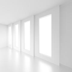 Contemporary Architecture Design. White Minimal Geometric Background