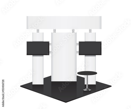 Trade Exhibition Stand Vector : Modular exhibition stand vector kit with supporting arch