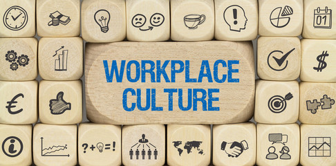 Workplace Culture / Würfel mit Symbole