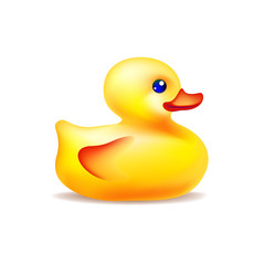 Vector yellow bath duck