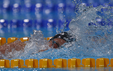 Hungary's Hosszu competes in the women's 200m individual medley semi-finall during the World Swimming Championships at the Sant Jordi arena in Barcelona