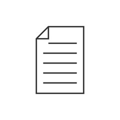 Note outline icon
