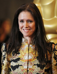 "Former director of the musical ""Spider-Man: Turn Off the Dark"" Julie Taymor poses at the Academy of Motion Picture Arts and Sciences' 2011 Governors Awards in Hollywood, California"