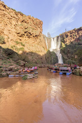 Ouzoud Waterfalls in the Grand Atlas village of Tanaghmeilt, province of Azilal.