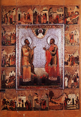 Icon Cosmas and Damian the unmercenaries