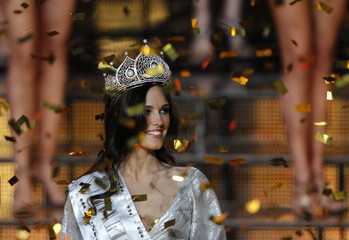 "Irina Antonenko, 18, is seen after winning the ""Miss Russia"" beauty contest in Luxury Village, in Barvikha outside Moscow"