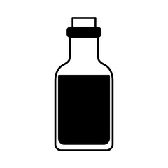 isolated glass bottle icon vector illustration graphic design