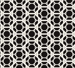 Contemporary geometric pattern vector seamless. Polygonal grid texture. Monochrome abstract line web background.