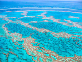 Australia's Great Barrier Reef (view from the air)